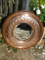 Stunning large Arts & Crafts mirror - Keswick?