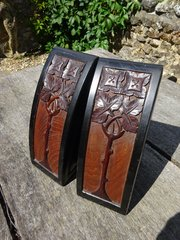 Stunning pair of Arts & Crafts book ends