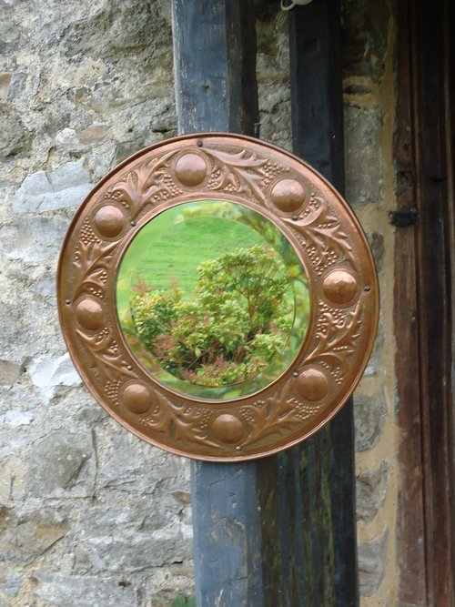 Superb Arts & Crafts  Keswick copper mirror
