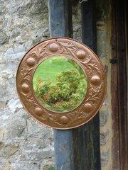 Superb Arts & Crafts  Keswick copper mirror