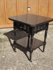 Unusual Aesthetic movement ebonised table