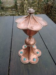 Unusual Arts & Crafts Chalice with cabochons