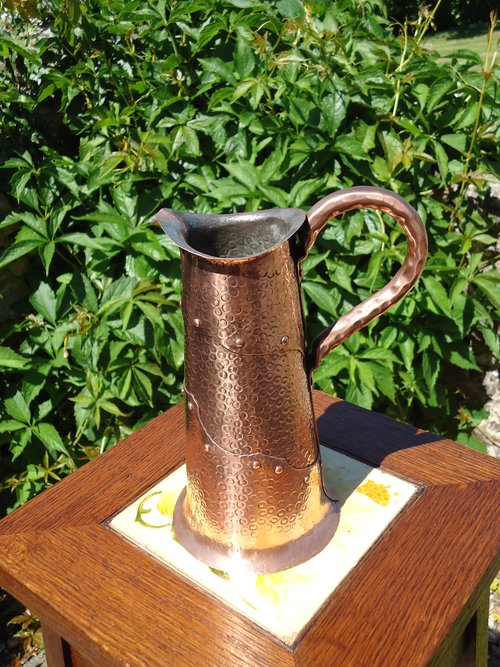 Unusual Arts & Crafts Newlyn school jug