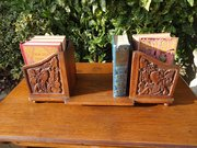Unusual Arts & Crafts carved book stand