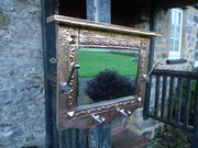 Unusual Arts & Crafts copper hall mirror