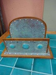 Unusual Arts & Crafts copper letter rack