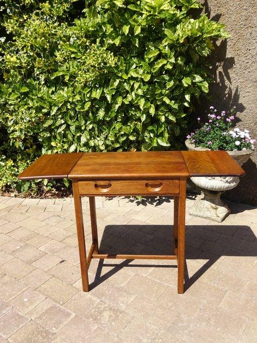 Unusual Arts & Crafts oak side table