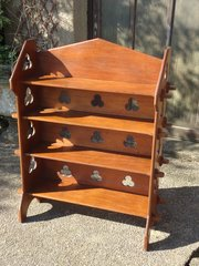 Unusual Gothic Arts & Crafts Bookcase