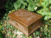 Unusually large copper games box. Cornish