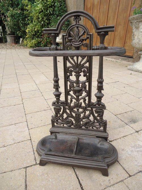 Unusually Small Cast iron umbrella stand