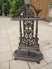 Unusually Small Cast iron umbrella stand