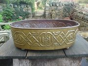 Very Large Celtic Brass planter or wine cooler