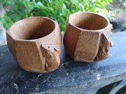 Vintage pair of Mouseman oak napkin rings