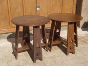 Pair of Arts & Crafts oak tables for Liberty