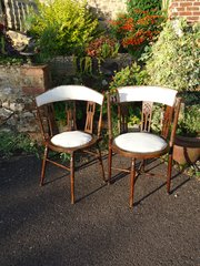 Pair of Arts & Crafts chairs- Liberty - Birch