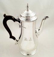 Antique Silver Coffee Pot  Arm