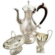 Sterling Silver 3 Piece Coffee
