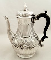 Victorian Silver Coffee Pot  S
