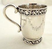 Victorian Silver MugTankard  I