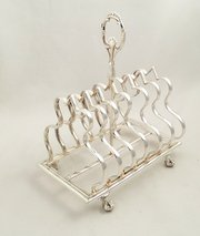Victorian Silver Plated Toast