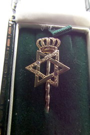 15ct gold  diamond star of Dav