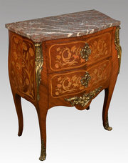 French kingwood marquetry and