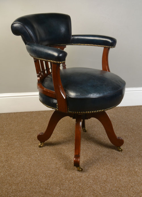 Victorian Mahogany Captains Office Desk Chair Antiques Atlas
