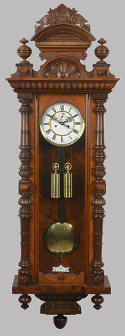 Walnut Vienna wall clock
