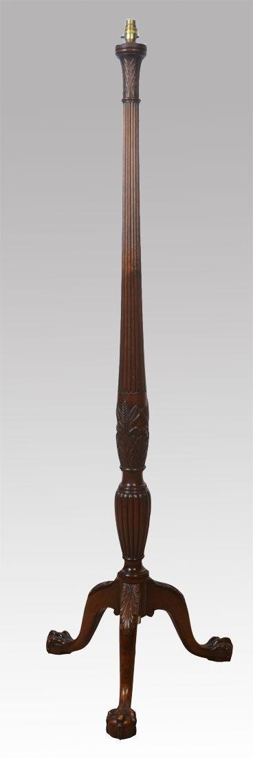 Antiques atlas mahogany standard lamp for Antique mahogany floor lamp