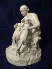 Victorian Parian ware group