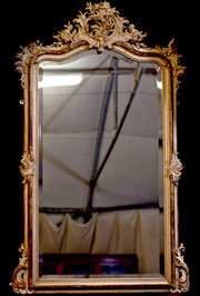 French cream and gilt mirror