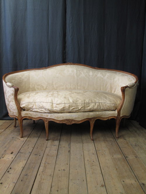 French louis xv canape corbeille en hetre sofa antiques for Louis xv canape sofa