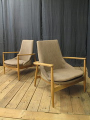 Pair of Spanish 1950s armchair