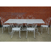 French garden table and chair