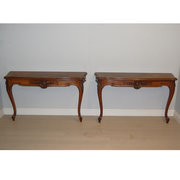Pair of French rosewood consol