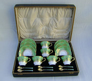Coalport Tea Set and Silver En