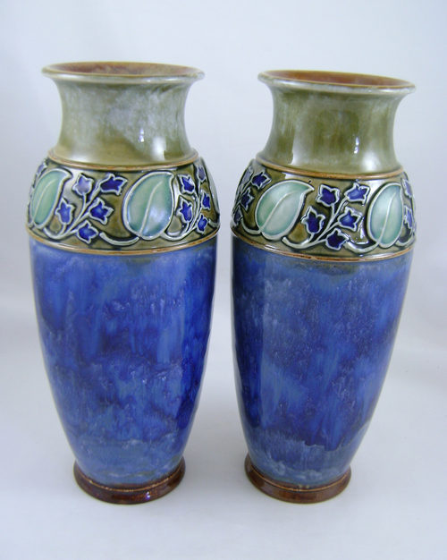 Antiques Atlas Pair Of Doulton Lambeth Stoneware Vases