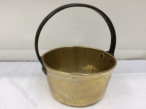 Antique Brass Miniature Preserve Pan