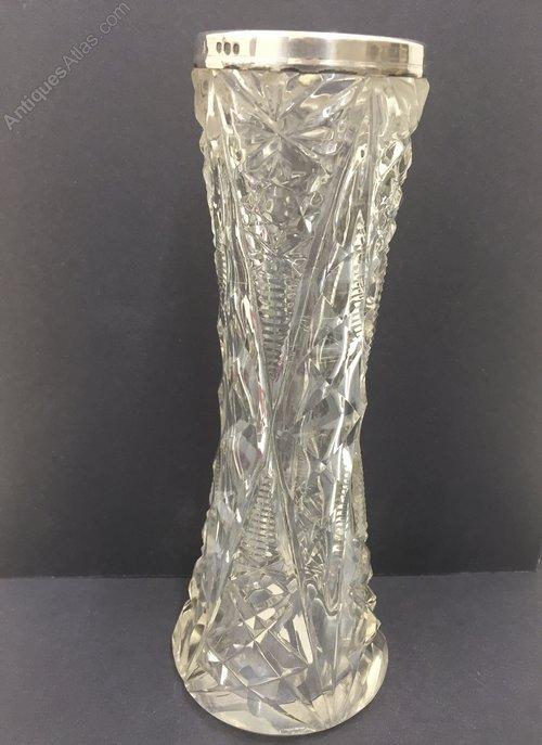 Antique Cut Glass Speciman Vase circa 1919