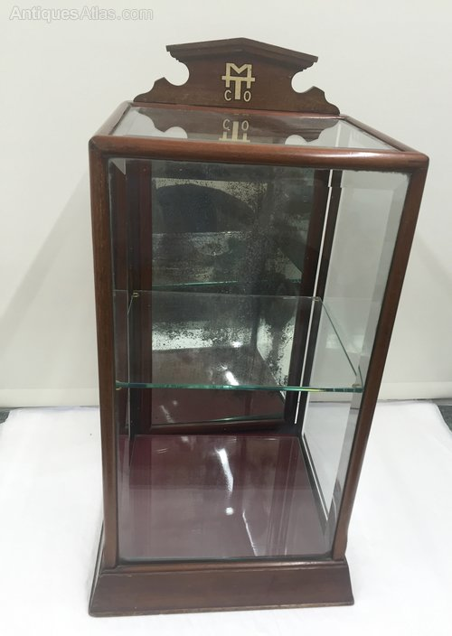 Antique Mahogany Tobacconist Display Cabinet