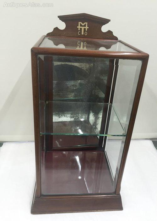 Antique Mahogany Tobacconist Display Cabinet