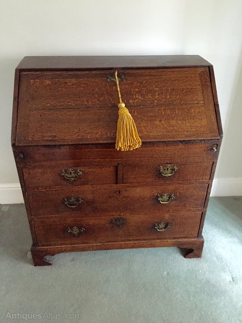 Antique Norfolk Oak Writing Bureau circa 1740