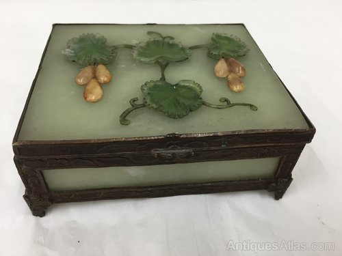 Antique Onyx and Pietra Dura Trinket Box
