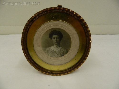 Brass Framed Female Photographic Study circa 1895
