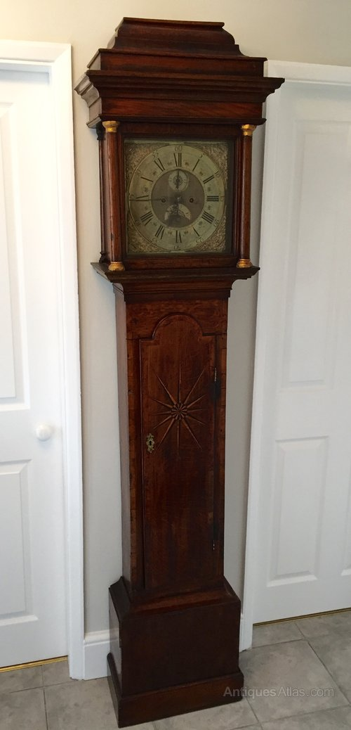 Oak Longcase Clock 8 Day Movement circa 1740