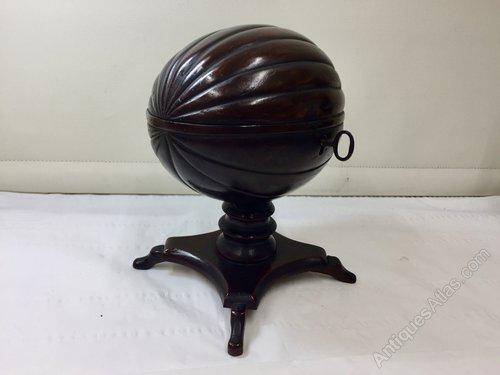 Rare Antique Coconut Tea Caddy circa 1830