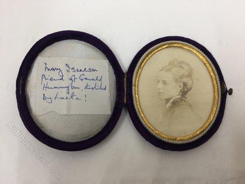 Victorian Oval Miniature Portrait Study