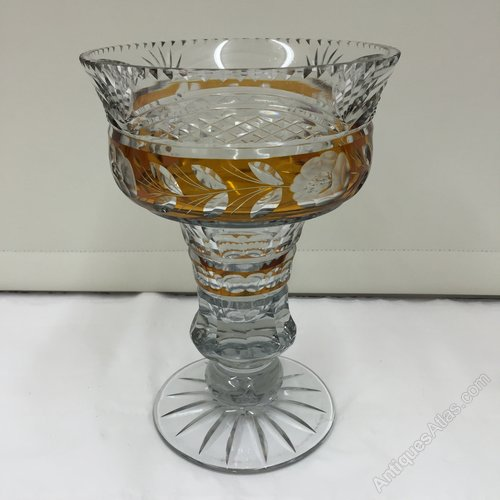 Vintage Bohemian Cut Glass Vase
