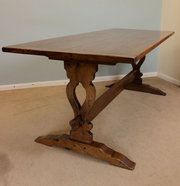 Antique Oak Refectory Dining T