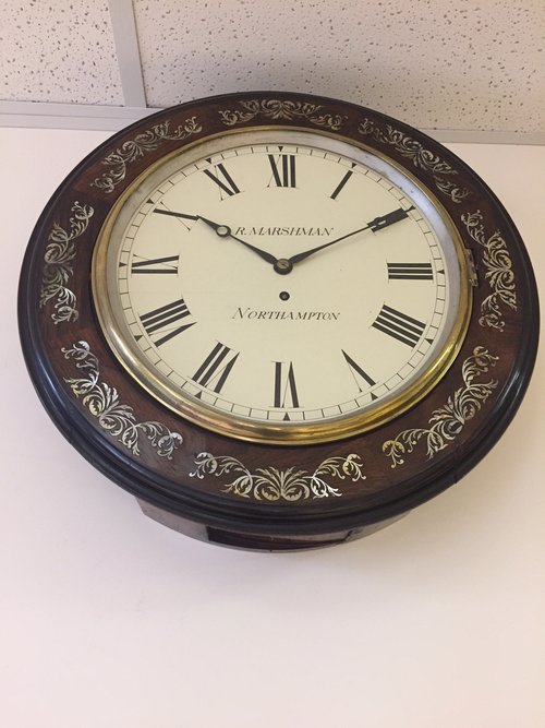 A stunning Antique C1870 Dial Fusee wall clock.